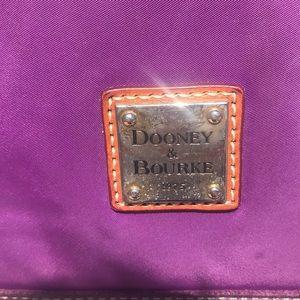 Dooney & Bourke Bags - Dooney & Burke large purple bag with suede trim